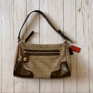 Coach small tan & brown purse